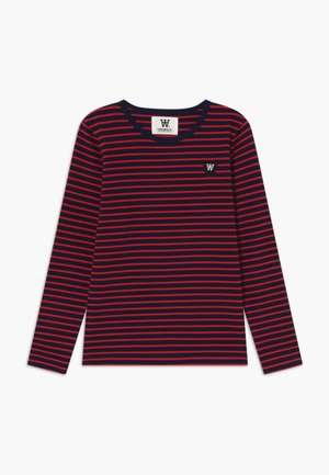 KIM KIDS - Maglietta a manica lunga - navy/red stripes