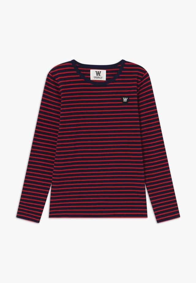 KIM KIDS - T-shirt à manches longues - navy/red stripes