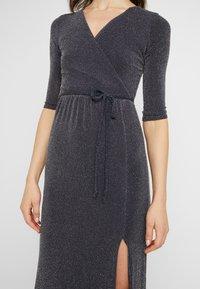 Club L London - WRAP SPARKLE TIE FRONT MAXI DRESS - Maxi dress - grey - 6
