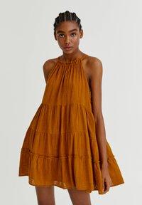PULL&BEAR - Day dress - mottled beige - 0