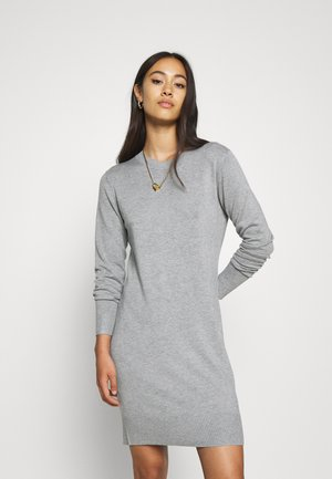 JUMPER Knit DRESS - Shift dress - mid grey melange