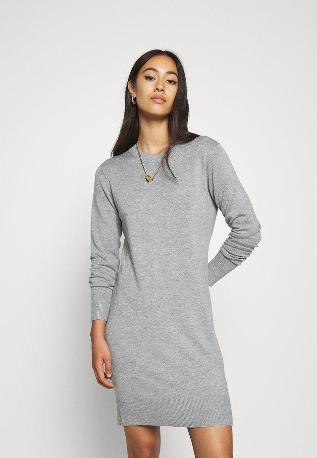 JUMPER Knit DRESS - Etuikleid - mid grey melange