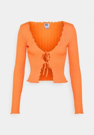 NOORI TIE FRONT - Kardigan - orange