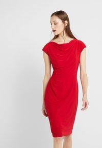 Lauren Ralph Lauren - MID WEIGHT DRESS - Shift dress - parlor red - 4