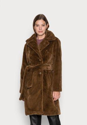 OBJTILLY LONG JACKET - Classic coat - sepia