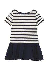Polo Ralph Lauren - PONTE DRESS - Žerzejové šaty - hunter navy/clubhouse cream - 0
