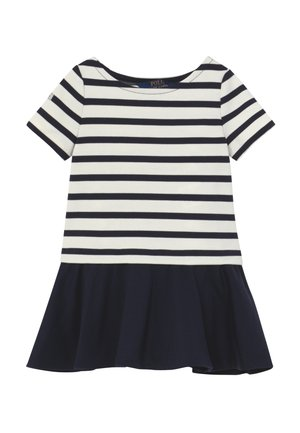 PONTE DRESS - Žerzejové šaty - hunter navy/clubhouse cream