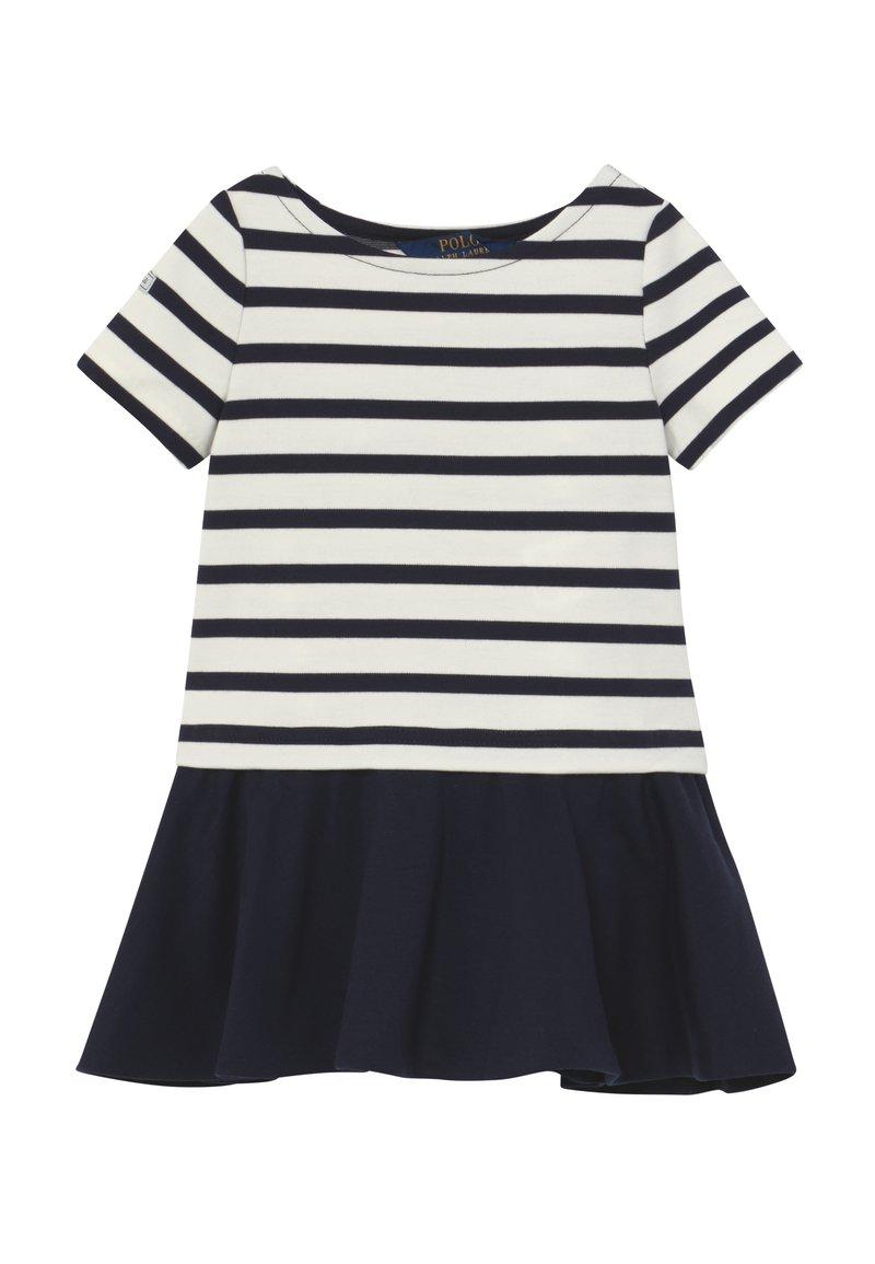 Polo Ralph Lauren - PONTE DRESS - Žerzejové šaty - hunter navy/clubhouse cream