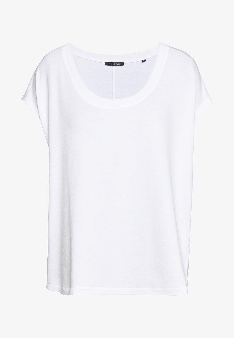 Marc O'Polo - ROUND NECK ROUND HEM - Basic T-shirt - white