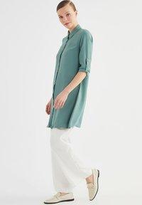 Trendyol - Button-down blouse - green - 1