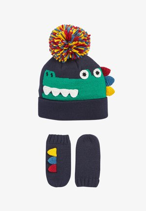 CROCODILE HAT AND GLOVE - Gloves - blue