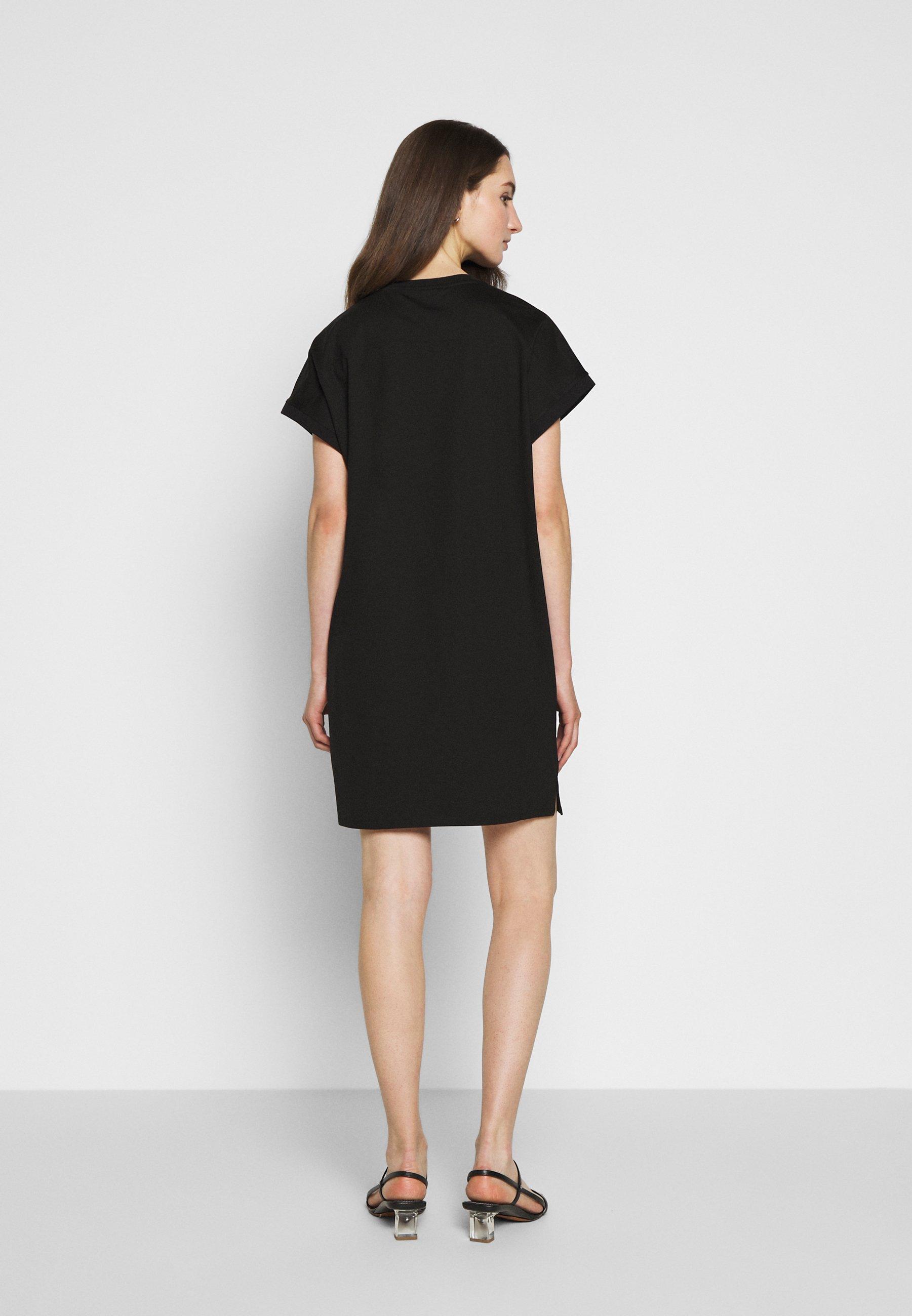 KARL LAGERFELD MERCERIZED DRESS  Jerseykleid black/schwarz
