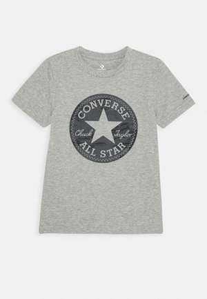SHORT SLEEVE CHUCK PATCH GRAPHIC UNISEX - T-shirt con stampa - dark grey heather