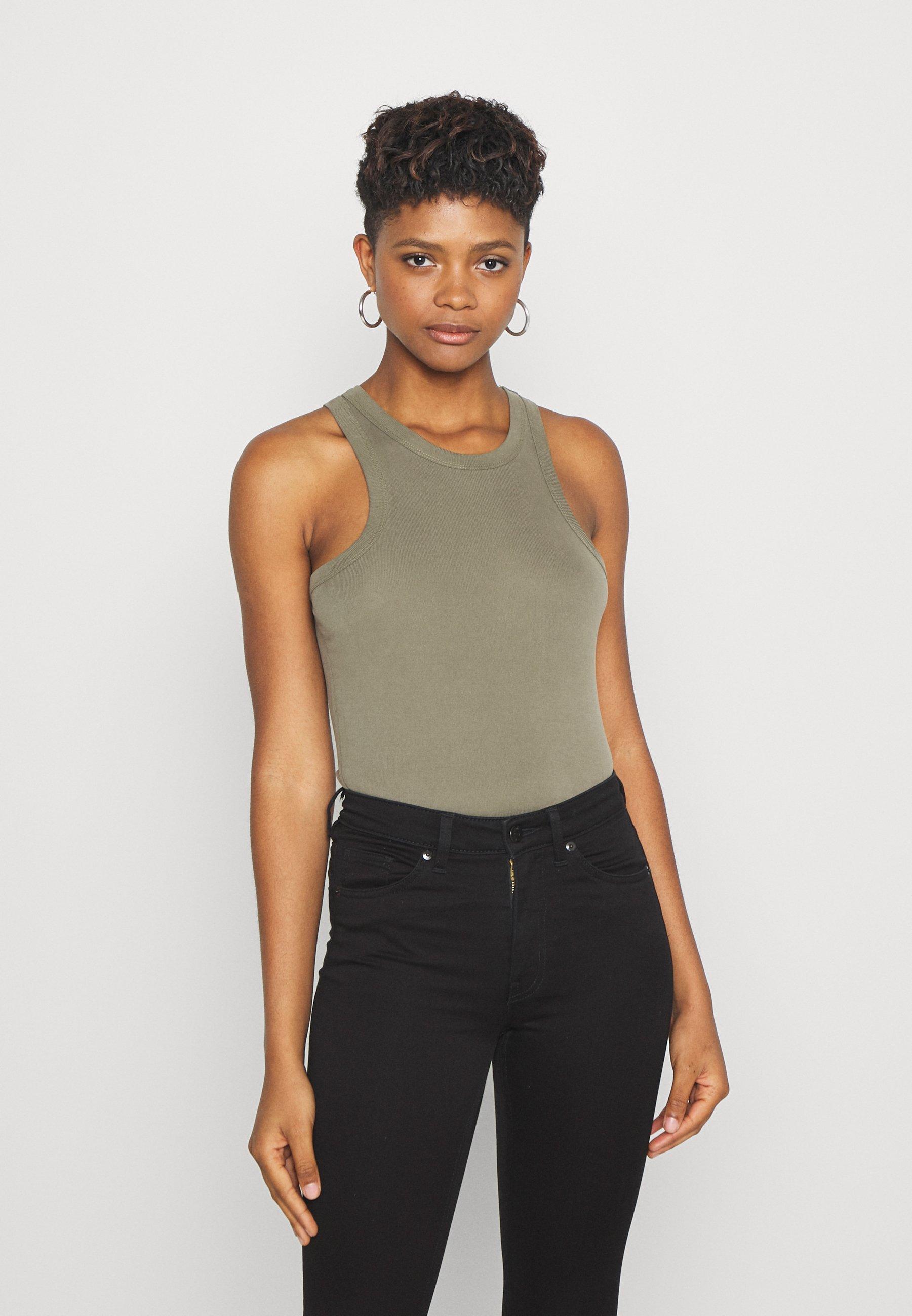 Economico di alta qualità Abbigliamento da donna Good American THE TANK Top olive
