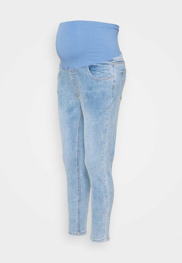MATERNITY CROPPED - Skinny-Farkut - venice blue
