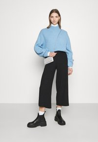 Monki - CILLA PARTY TROUSERS - Bukse - black - 1