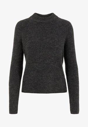 PCELLEN - Stickad tröja - dark grey melange