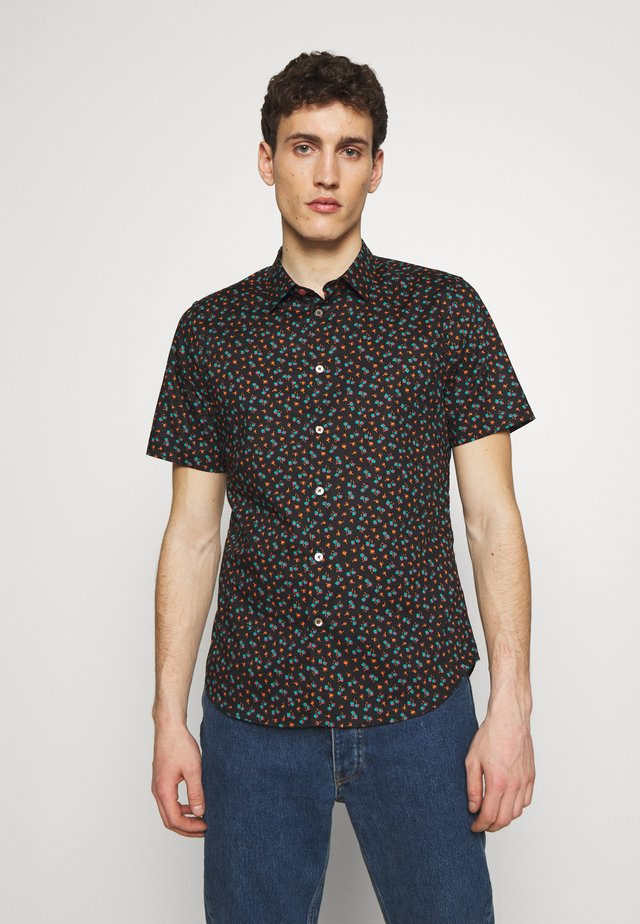 SLIM - Camisa - black multi