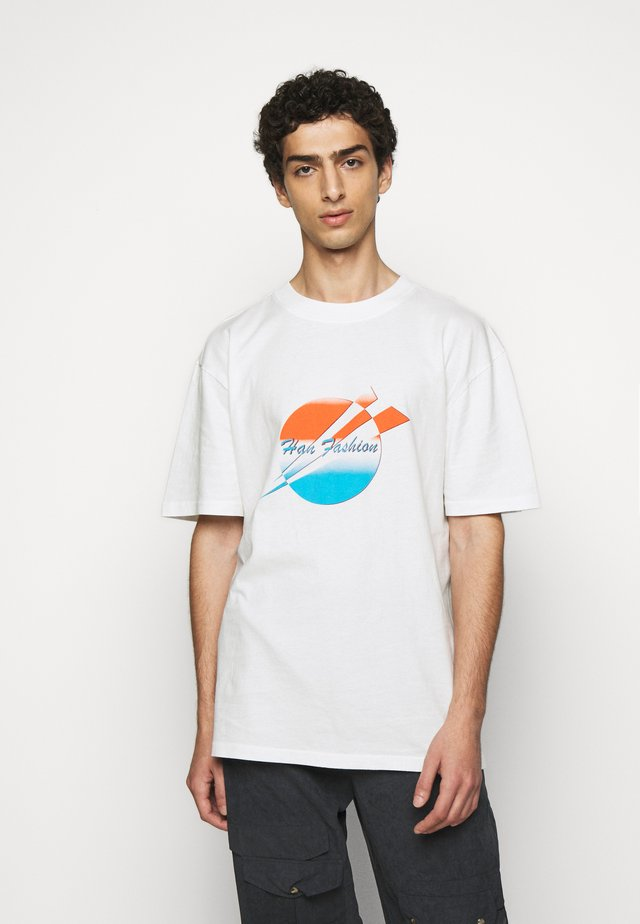 BOXY TEE - T-shirt con stampa - off-white