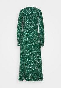 Whistles - LEOPARD MIDI DRESS - Day dress - green - 1