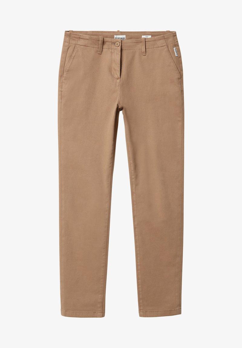 Napapijri - MERIDIAN - Trousers - beige portabel