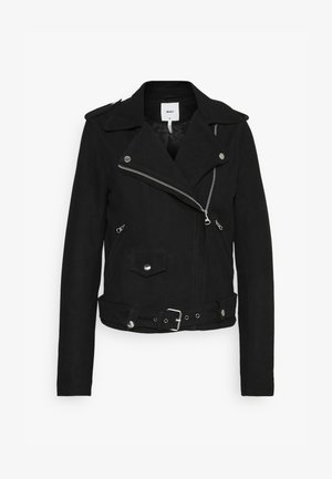 OBJNANDITA JACKET SEASONAL - Leather jacket - black
