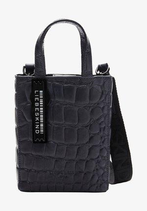 PAPER BAG KROKO TOTE XS TRAGETASCHE MIT KROKOPRÄGUNG - Tote bag - midnight sky
