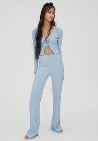 PULL&BEAR - Trousers - stone blue denim - 1