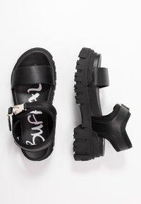 Buffalo - VEGAN JOJO - Platform sandals - black - 3