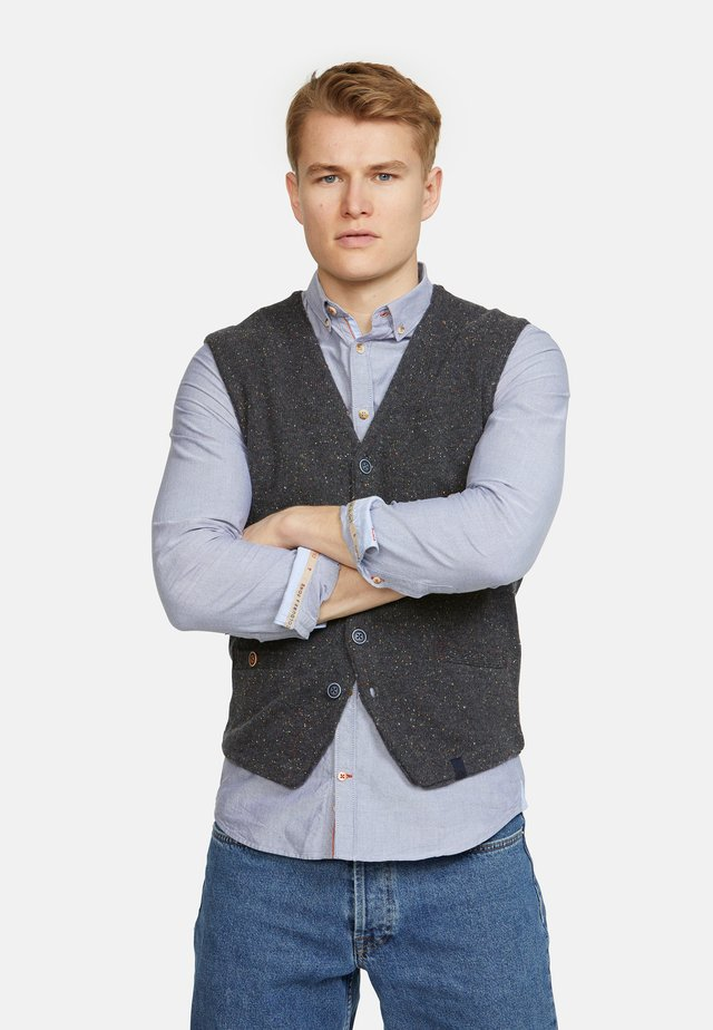 TANNER - Waistcoat - grau