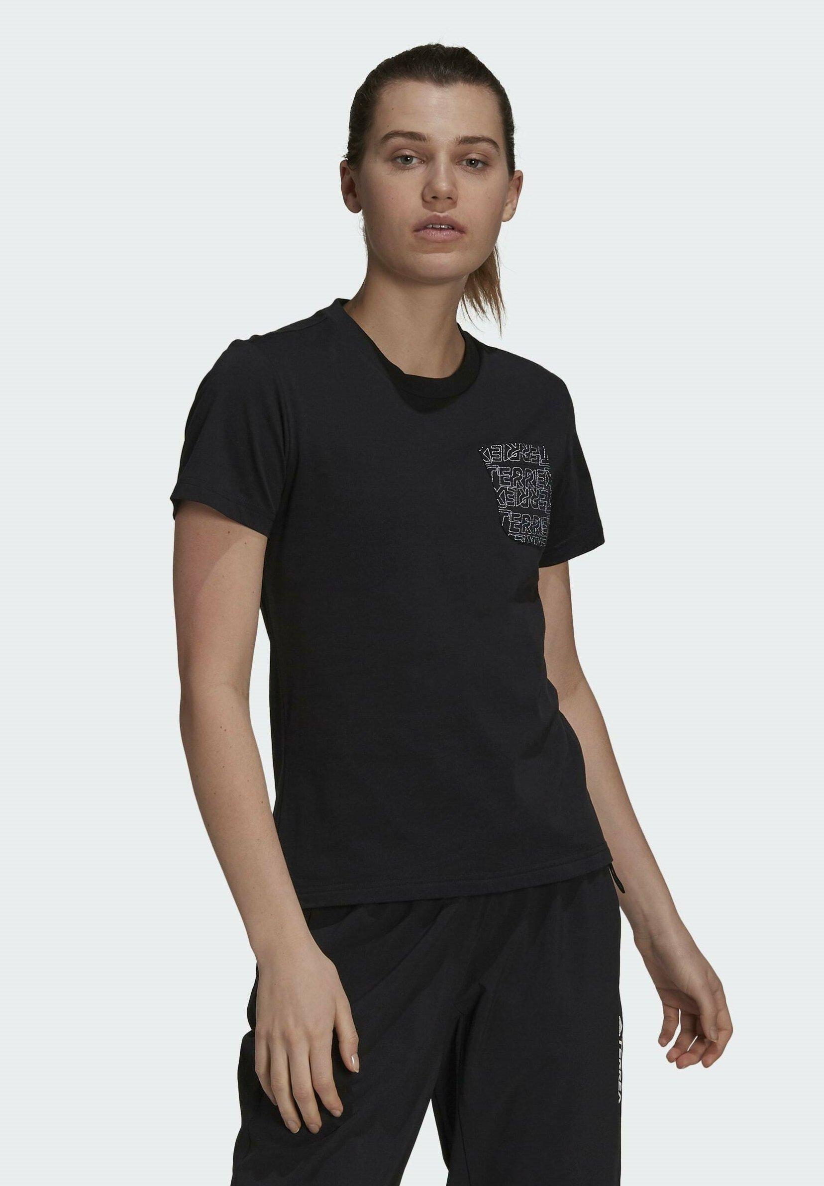 Women W TX POCKET  - Print T-shirt