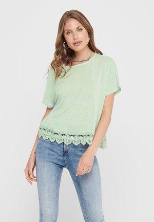 Print T-shirt - aqua foam
