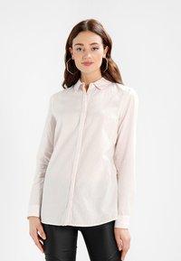 Selected Femme - SLFNOELLA - Button-down blouse - sepia rose/snow white - 0