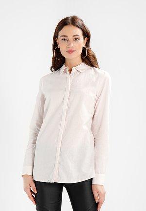 SLFNOELLA - Button-down blouse - sepia rose/snow white