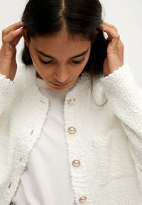Mango - UPPER - Cardigan - blanco