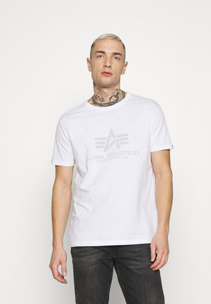 BASIC REFLECTIVE - Print T-shirt - white