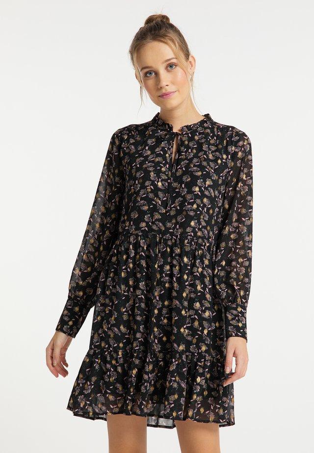 Sukienka letnia - schwarz gold