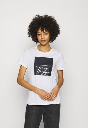 ALISSA REGULAR TEE - Camiseta estampada - white/desert sky