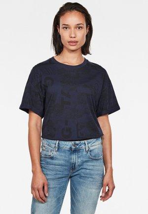 LOOSE - T-shirt basic - sartho blue original flower