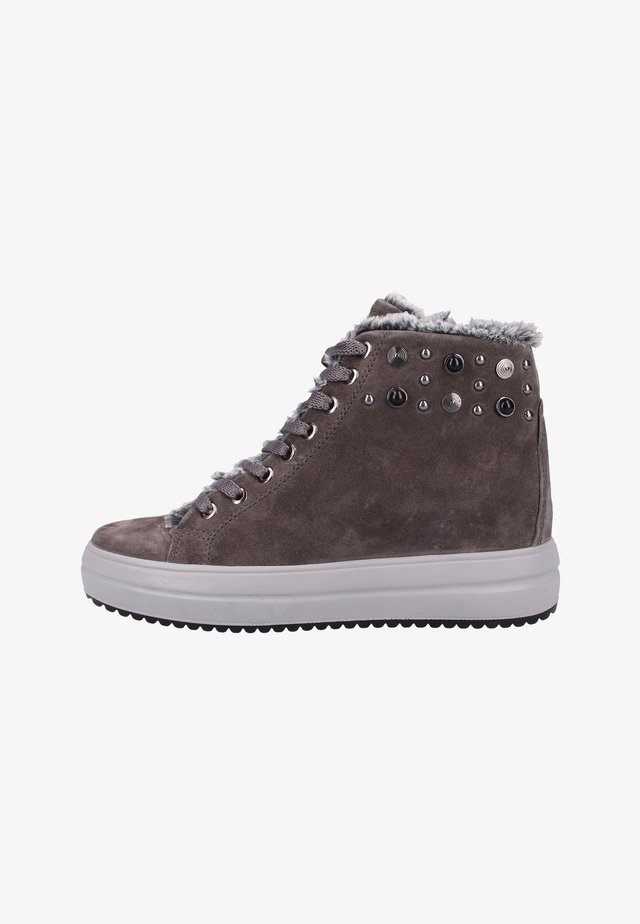High-top trainers - gray