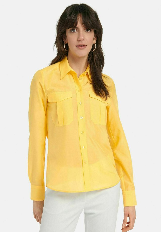 Button-down blouse - gelb