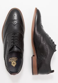 Base London - FOCUS - Smart lace-ups - waxy black - 1