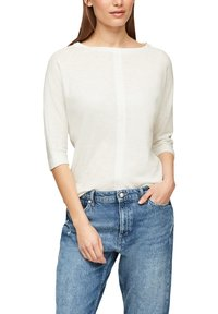 s.Oliver - MET 3/4-MOUWEN - Long sleeved top - offwhite - 3