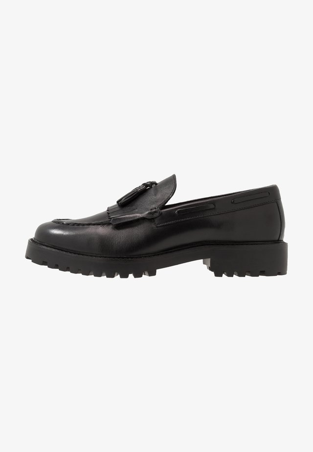 SEAN TASSEL LOAFER - Slippers - black