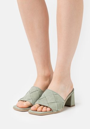POLLY - Heeled mules - salvia