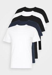 5 PACK - Basic T-shirt - black/white/blue