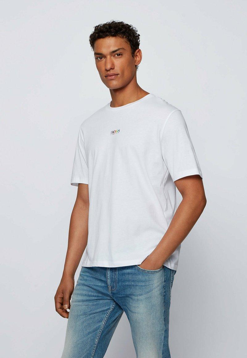 BOSS - TLOVE  - Print T-shirt - natural