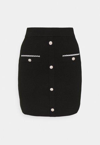 JIDENE - Mini skirt - noir