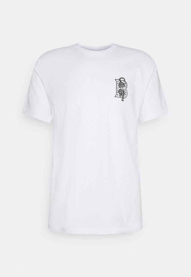 CRAWLER - T-shirt med print - white