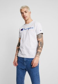 Champion Reverse Weave - SHORT SLEEVE TEE - Print T-shirt - light grey - 0
